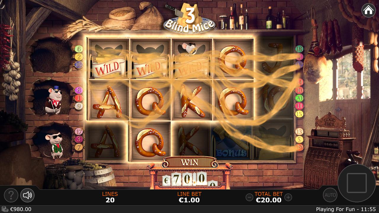 Веселье на игровом слоте «3 Blind Mice» в онлайн казино1